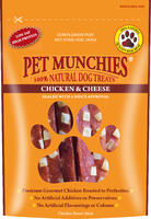 Pet Munchies Dog Treats - Chicken & Cheese 100g x 8