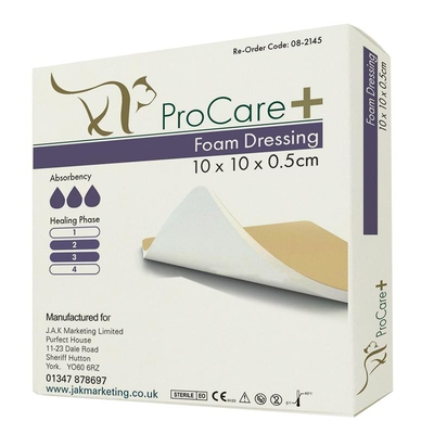 Purfect ProCare+ Foam Dressing with PU backing