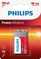 PHILIPS POWER ALKALINE BATTERY 9V