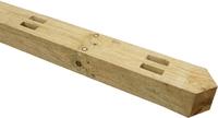 2.1m UC4 Morticed Post 125x100mm 2 Rail