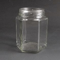 195ml Hexagonal Jar. (Tray of 50)