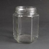 195ml Hexagonal Jar. (Tray of 50)