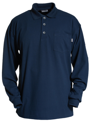 Tranemo 5945 89 03 Long Sleeve FR Poloshirt Navy