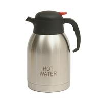 "Vacuum Jug S/S Inscribed ""Hot Water"" 2 Litre"