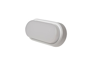 OHIO 12W IP54 OVAL BULKHEAD, 3000K,  c/w WHITE and BLACK TRIMS