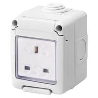 Gewiss 13A 1G Waterproof Socket IP55