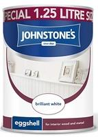 JOHNSTONES EGGSHELL BRILLIANT WHITE 1.25 LTR