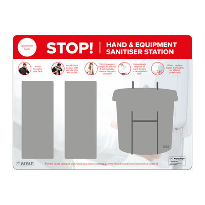 Wall mounted hand and equipment sanitiser station