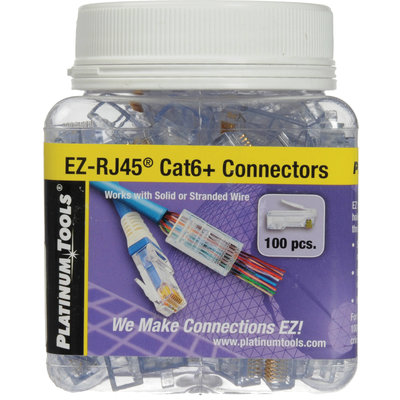 EZ-RJ45 Cat6 Connectors 100 Jar