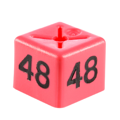 SHOPWORX CUBEX 'Size 48' Size cubes - Pink (Pack 50)