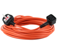 Numatic Orange Cable & 13A Plug Assembly with 3-Pin Connector (10M)