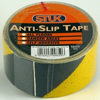 STUK 50 MM X 3 MTR YELLOW / BLACK ANTI SLIP TAPE