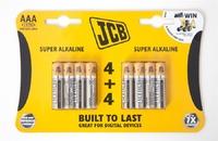 JCB BATTERY SUPER ALKALINE AAA CARD 8