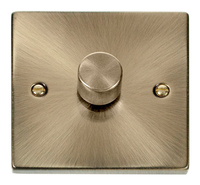 Click Deco Victorian Antique Brass 1 Gang 2 Way Dimmer | LV0101.0011
