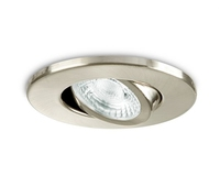 IP20 GU10 Fire Rated Downlight Adjustable Brushed Steel