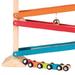 Wooden zig-zag car track - close up