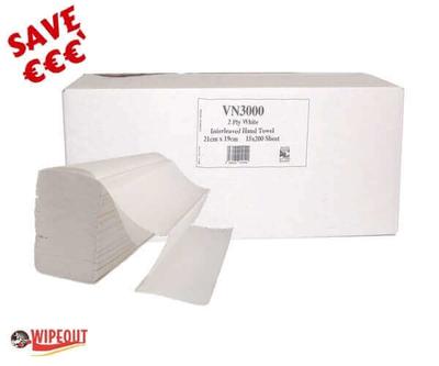 V Fold White Hand Towel cs 3000 (lucart) spec