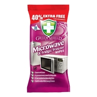 Green Shield Microwave & Fridge/Freezer Wipes, 70 Extra Large Sheets