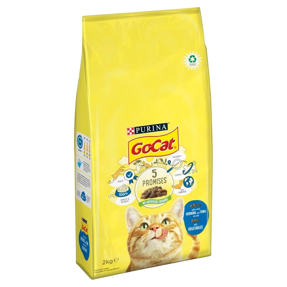 Go-Cat Comp Tuna, Herring & Veg 2kg