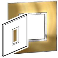Arteor (British Standard) Plate 1 Module 1 Gang Square Gold Brass| LV0501.0994