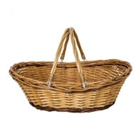 BASKET OVAL SHOPPER W/HANDLES 50X38X14/18H