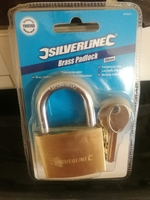 "BRASS PADLOCK 2"" PRE PACKED"