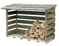 Timber Log Store Garden Storage
