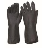 Neoprene Flock Lined Chemical Glove Black 33cm