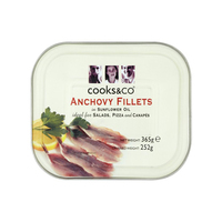 Tin Anchovies (Oil)-Cooks & Co-(365gr)