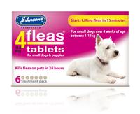 Johnson's 4-Fleas Small Dog & Puppy Flea Tablets 6 tab x 1