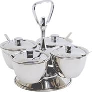 Revolving Relish Server Stainless Steel 10.2cm Bowl