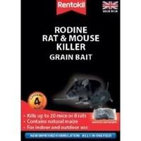 RENTOKIL RODINE RAT & MOUSE KILLER GRAIN BAIT 4 SACHET