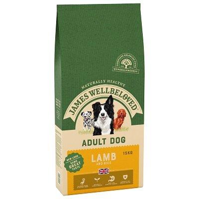 James Wellbeloved Lamb & Rice Adult Dog Food 15kg