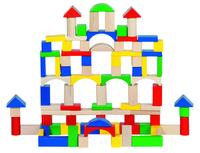 Bricks wood 100 pieces /Drum (P/Drum min 1)