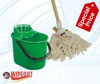 PLUTO BUCKET WITH SIEVE GREEN 12ltr