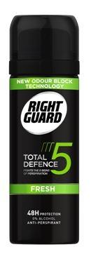 Right Guard Total Defence 5 Men Fresh Aerosol 50ml Travel Size