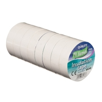 19mm x 20m Electrical PVC White Tape