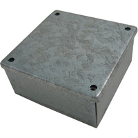 3 x 3 x 2 Galvanised Knockout Adaptable Box
