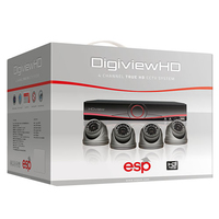 ESP HDV4KD HD 4 Dome Camera + 1TB DVR Kit