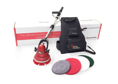Motorscrubber with medium handle package