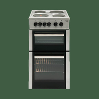 Beko BD533AS 50cm Twin Cavity Solid Plate Cooker - Silver
