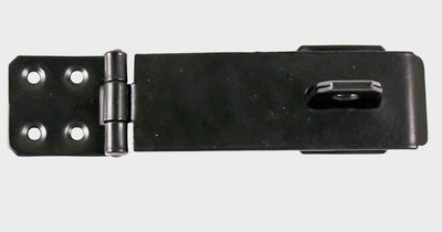 "Safety Hasp & Staple 115mm (4.5"") Black"