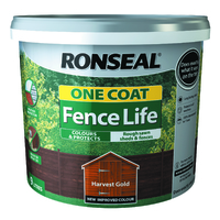 RONSEAL ONE COAT FENCELIFE HARVEST GOLD 9 LTR + 33%