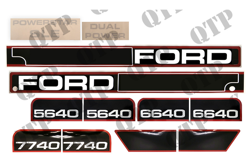 decal kit ford 7740 quality tractor parts ltd ford tractor spark plug decal kit ford 7740
