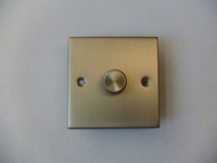 400W 1 Gang 2 Way Dimmer Satin Chrome