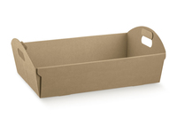 BOX TRAY 220X155X60CM  NAT.CORREGATED