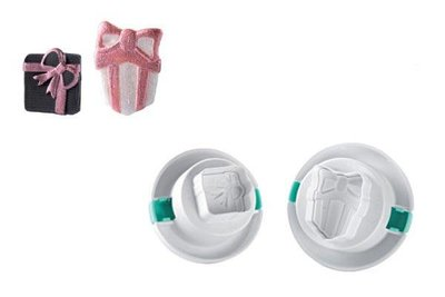 3D CUTTER GIFT BOXES, 2 Set, Small: 25x23 mm Large: 25x35 mm