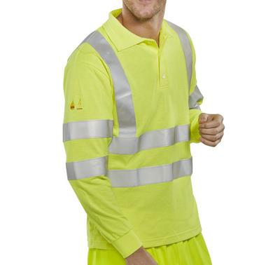 CLICK FR AST Hi Vis Polo Shirt Yellow