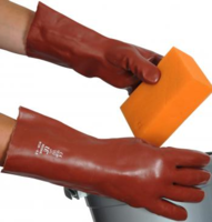 "Red PVC 14"" Gauntlets (R135)"
