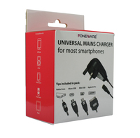 Universal Travel charger with 4 tips